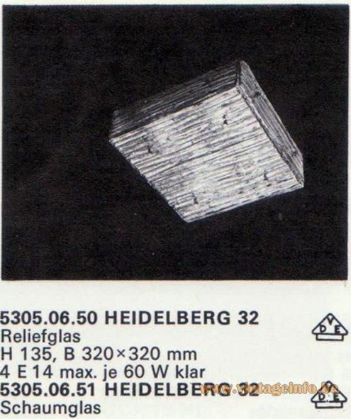 Kalmar Franken KG Flush Mount Heidelberg 32