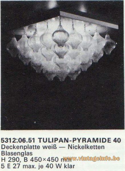 Kalmar Franken KG Tulipan Flush Mount Pyramid 40