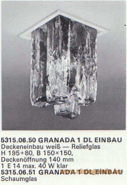 Kalmar Franken KG Recessed Flush Mount Granada 1 DL