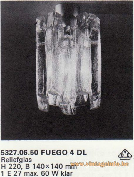"Kalmar Franken KG ""Ice Block"" Flush Mount Fuego 4 DL"