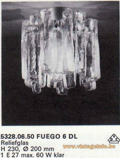 "Kalmar Franken KG ""Ice Block"" Flush Mount Fuego 6 DL"