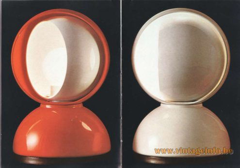Artemide Catalogue 1973. Artemide Eclisse Table Lamp, Design: Vico Magistretti.