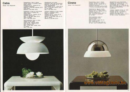 Artemide Cetra Pendant & Cirene Pendant, Design: Vico Magistretti