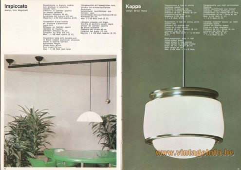 Artemide Impiccato Pendant Light, Design: Vico Magistretti Artemide Kappa Pendant Light, Design: Sergio Mazza