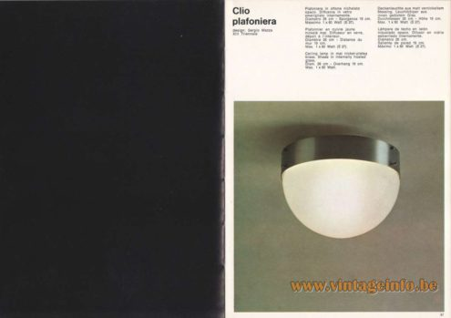 Artemide Clio Ceiling Lamp - Flush Mount, Design: Sergio Mazza