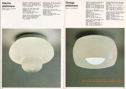 Artemide Electra Plafoniera Ceiling Lamp - Flush Mount, Design: Giuliana Gramigna Artemide Omega Plafoniera Ceiling Lamp - Flush Mount, Design: Vico Magistretti