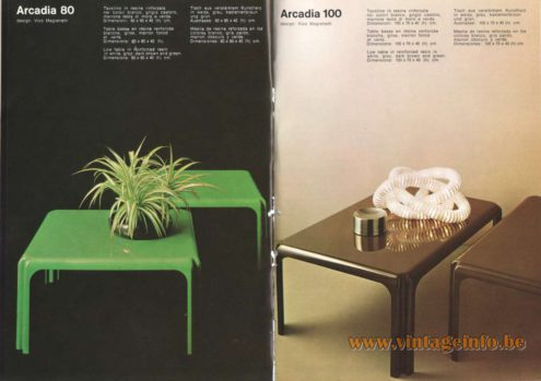 Artemide 80 & 100 Side Table, Design: Vico Magistretti