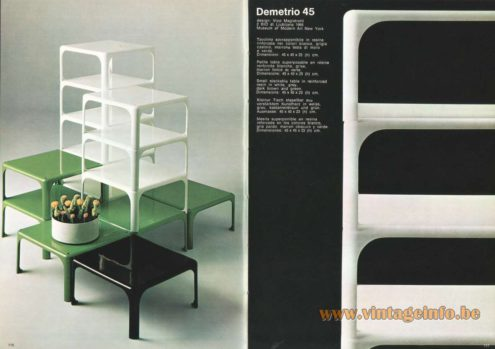 Artemide Demetrio 45 Stacking Tables, Design: Vico Magistretti