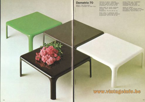 Artemide Demetrio 70 Side Table, Design: Vico Magistretti