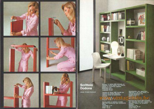Artemide Scrittoio Dodona Bookcase and Writing Desk, Design: Ernesto Gismondi