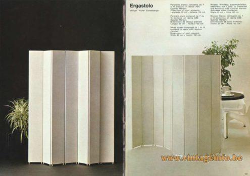 Artemide Ergastolo Screen, Design: Walter Eichenberger