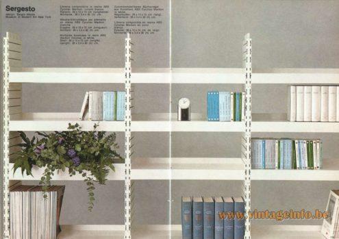 Artemide Sergesto Bookcase, Design: Sergio Mazza