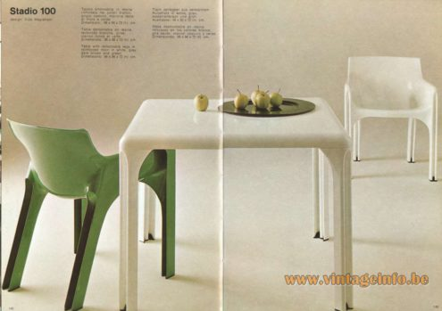 Artemide Stadio 100 Table, Design: Vico Magistretti