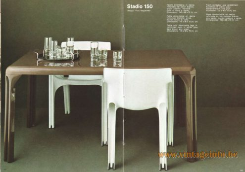Artemide Stadio 150 Table, Design: Vico Magistretti