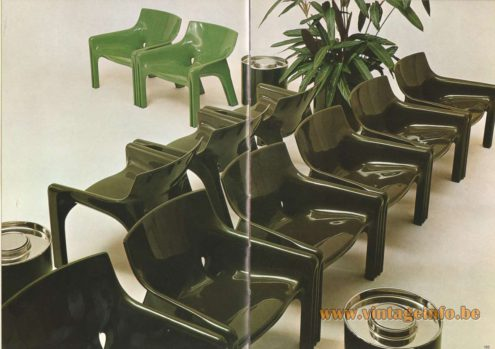 Artemide Catalogue 1973. Artemide Vicario Chair, Design: Vico Magistretti.