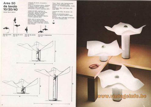 Artemide Catalogue 1976 - Artemide Eco, design Luciano Annichini