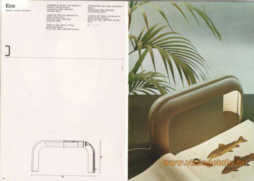 Artemide Catalogue 1976 - Artemide Eco, design Luciano Annichini