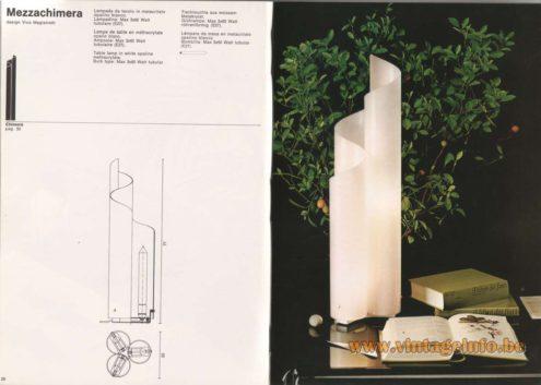 Artemide Catalogue 1976 - Artemide Mezzachimera, design Vico Magistretti