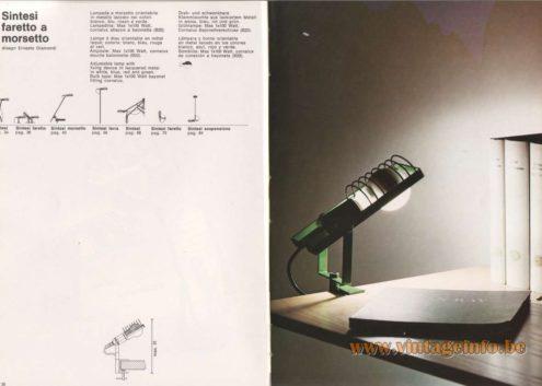 Artemide Catalogue 1976 - Artemide Sintesi faretto a morsetto, design Ernesto Gismondi
