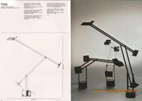 Artemide Catalogue 1976 - Artemide Tizio, design Richard Sapper