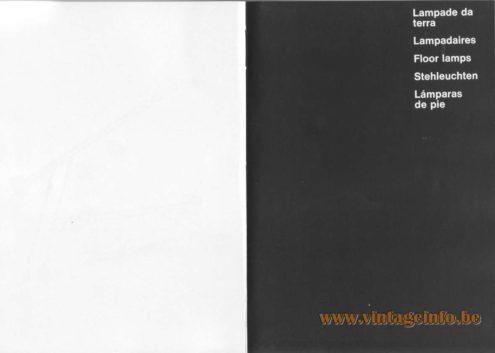 Artemide Catalogue 1976 - Artemide Floor Lamps