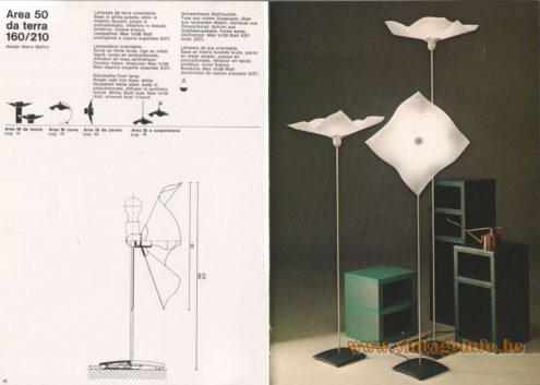 Artemide Catalogue 1976 - Artemide Area 50 da terra 160/210, design Mario Bellini