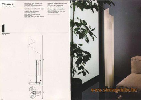 Artemide Catalogue 1976 - Artemide Chimera, design Vico Magistretti