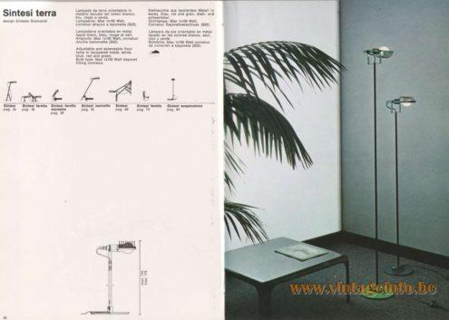 Artemide Catalogue 1976 - Artemide Sintesi terra, design Ernesto Gismondi