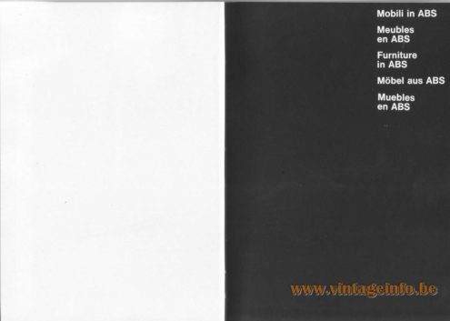 Artemide Catalogue 1976 - Furniture in ABS