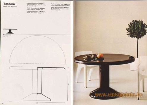 Artemide Catalogue 1976 - Tessera, design Vico Magistretti.