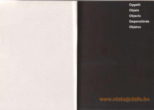 Artemide Catalogue 1976 - Objects