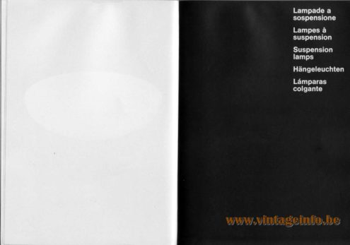Artemide studioA Catalogue 1976 - Suspension Lamps