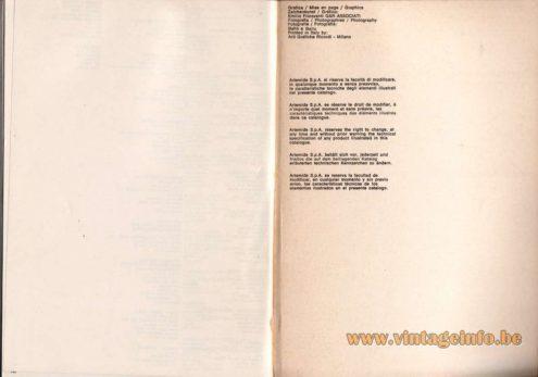 Artemide studioA Catalogue 1976 - Last page