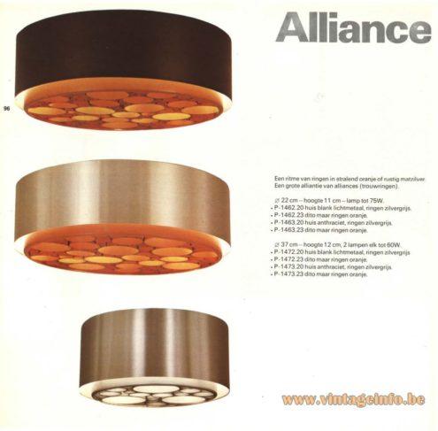 Raak 'Alliance' Flush Mount P-1462.20, P-1462.23, P-1463.20, P-1463.23, P-1472.20, P-1472.23, P-1473.20, P-1473.23