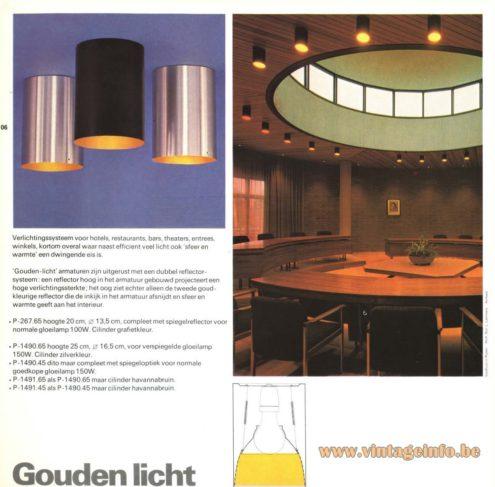 Raak 'Gouden Licht' Flush Mount P-267, P-1490, P-1491