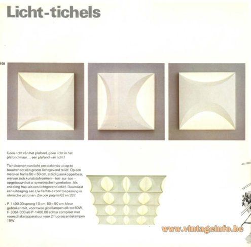 Raak 'Licht Tichels' Flush Mount P-1400, F-3064