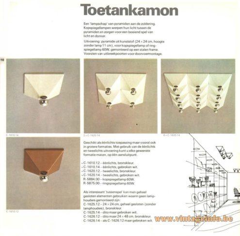 Raak 'Toetankamon' Flush Mount C-1610, C-1620, C-1625, C-1626