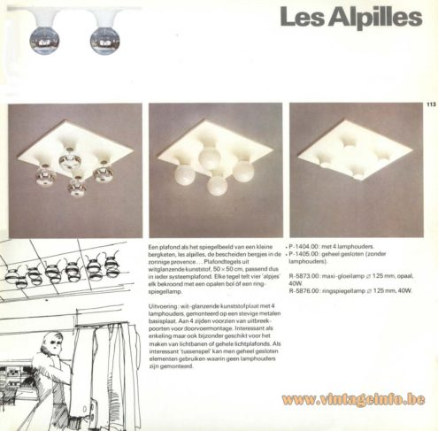 Raak 'Les Alpilles' Flush Mount P-1404, P-1405