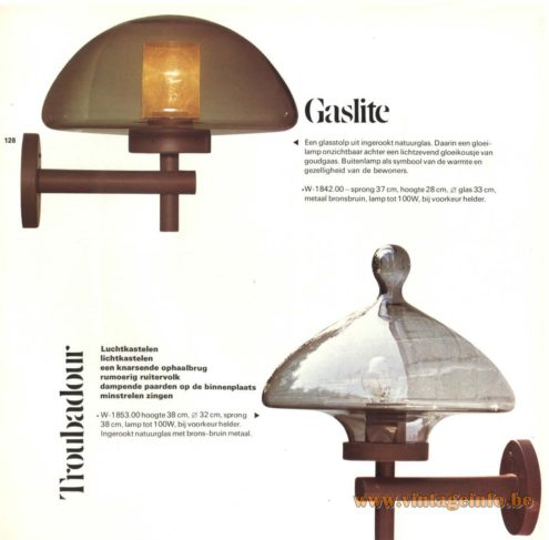 Raak Outdoor Lighting 'Gaslite' - W-1842 & 'Troubadour' - W-1853