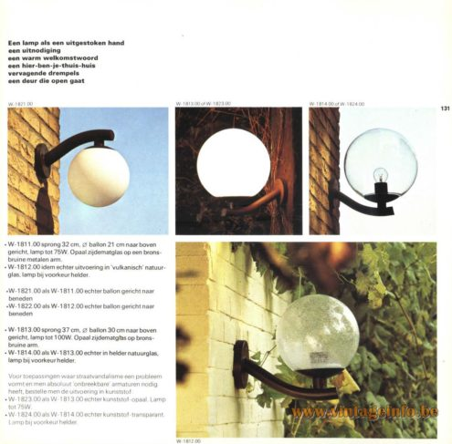 Raak Outdoor Lighting W-1811, W-1812, W-1821, W-1822, W-1813, W-1814