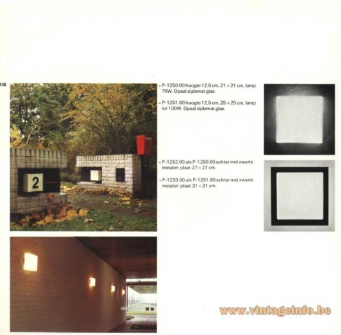 Raak Outdoor Lighting 'Bouwstenen' (bricks) - P-1250, P-1251, P-1252, P-1253