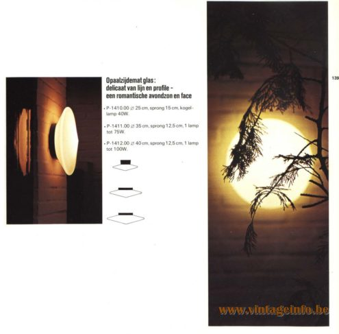 Raak Outdoor Wall Lighting 'Discus' - P-1410, P-1411, P1412