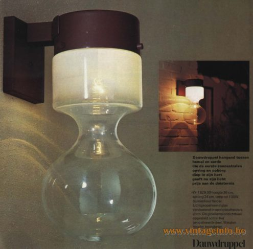 Raak Outdoor Wall Lighting 'Dauwdruppel' (dewdrop) - W-1828