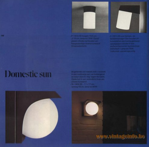 Raak Outdoor Lighting 'Domestic Sun' - W-1804 and P-1413, C-1513