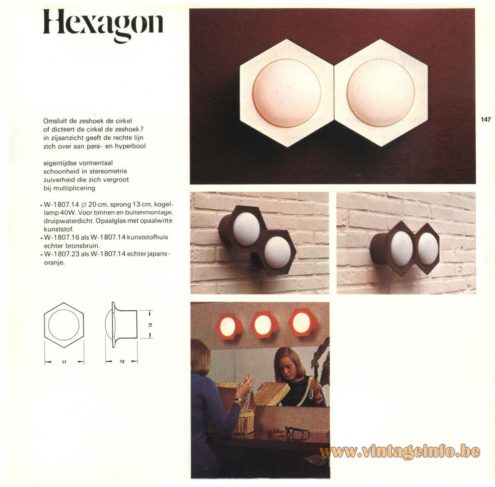 Raak Outdoor Lighting 'Hexagon' - W-1807