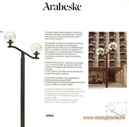 Raak Outdoor Lighting 'Paalkop' - 'Arabeske' - S-2210, S-2352, S-2211, S-2224, S-2225 (Pole-Head - Arabesque)
