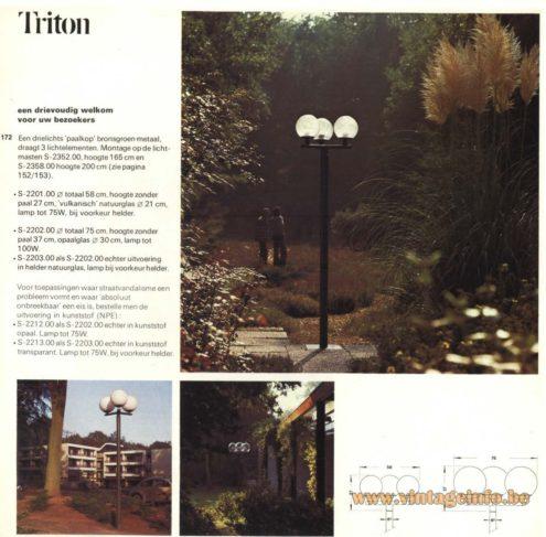 Raak Outdoor Lighting 'Paalkop' - 'Triton' - (Pole-Head - Triton) S-2201, S-2202, S2203