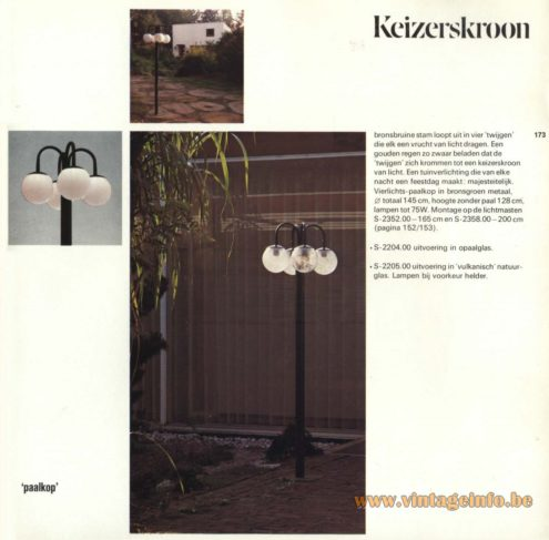Raak Outdoor Lighting 'Paalkop' - 'Keizerskroon' - (Pole-Head - Imperial Crown) S-2204, S-2205, S2352