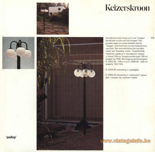 Raak Outdoor Lighting 'Paalkop' - 'Keizerskroon' - (Pole-Head - Imperial Crown) S-2204, S-2205, S2352