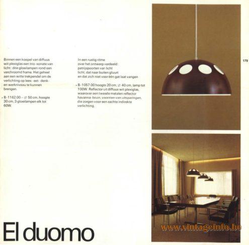 Raak Pendant Light 'El Duomo' - B-1162, B-1057